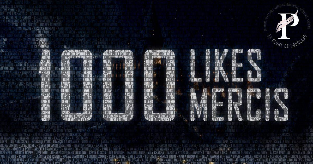 1000 abonnés Facebook ! 1000 mercis