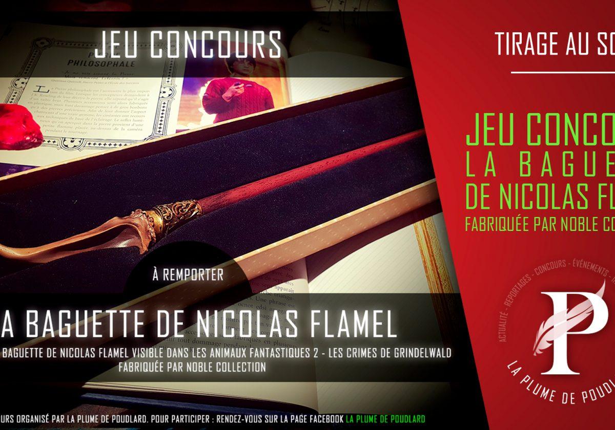 Résultat du jeu concours : Remportez la baguette de Nicolas Flamel