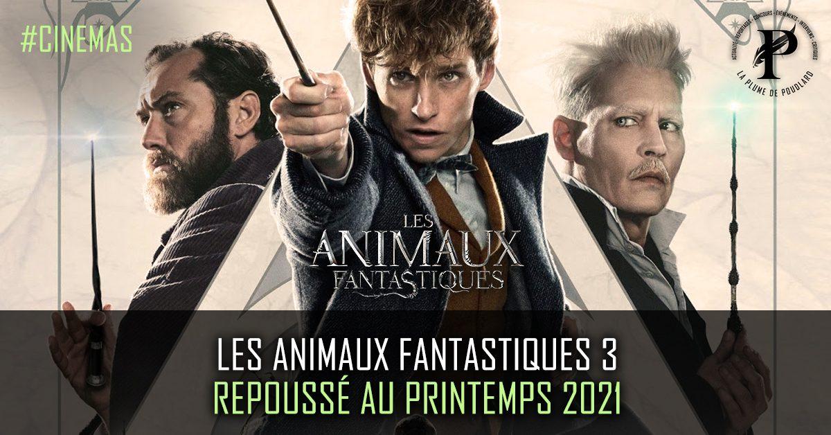 Les Animaux Fantastiques 3 est repoussé au printemps 2021.