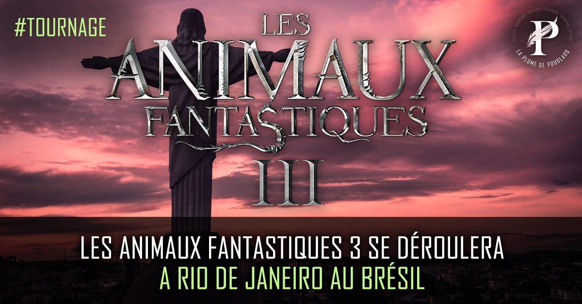 Les animaux fantastiques 3 se déroulera à Rio de Janeiro au Brésil !
