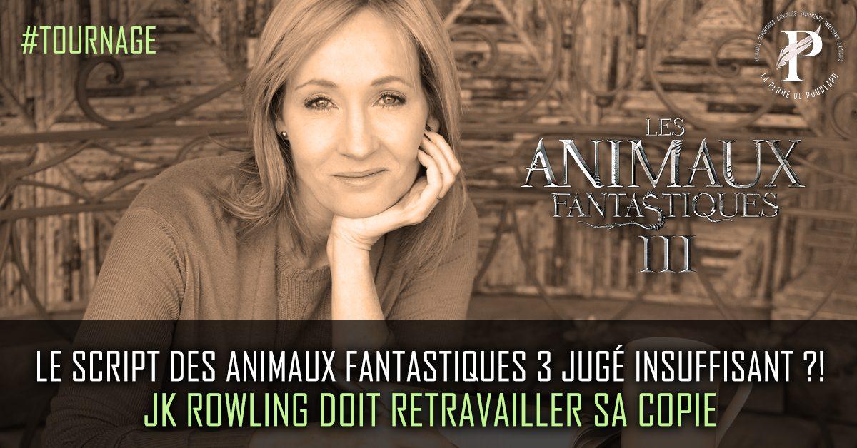 Le script des animaux fantastiques 3 jugé insuffisant ?! JK Rowling doit retravailler sa copie.