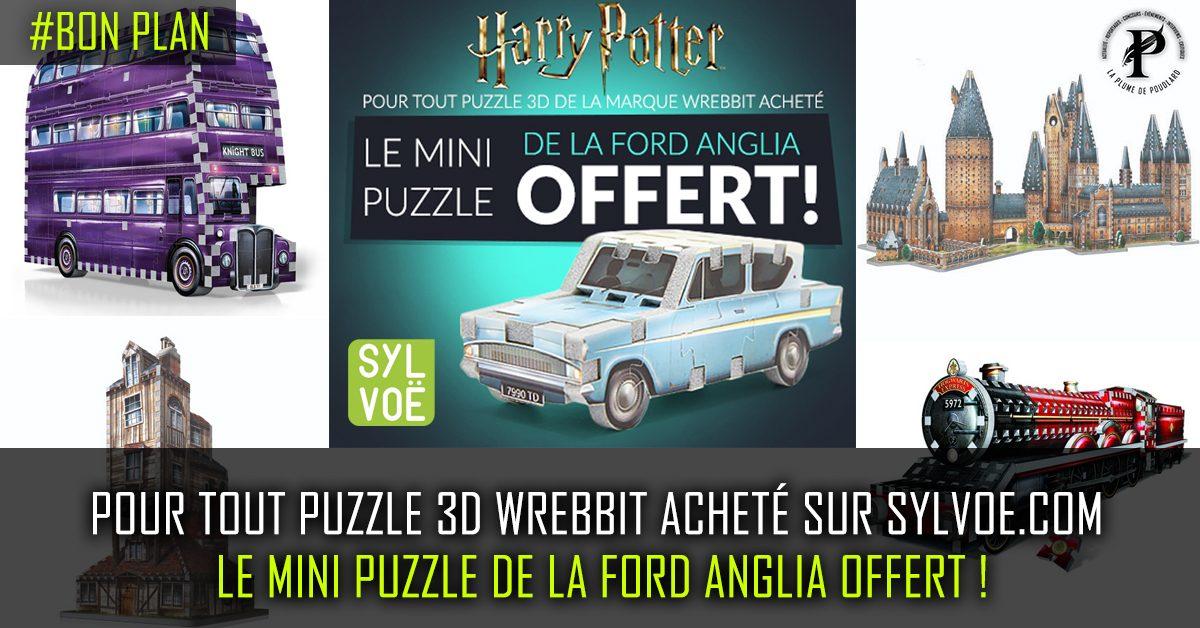 En ce moment, sur le site de Sylvoë, pour tout puzzle 3D Wrebbit acheté, le mini puzzle de la ford anglia est offert !