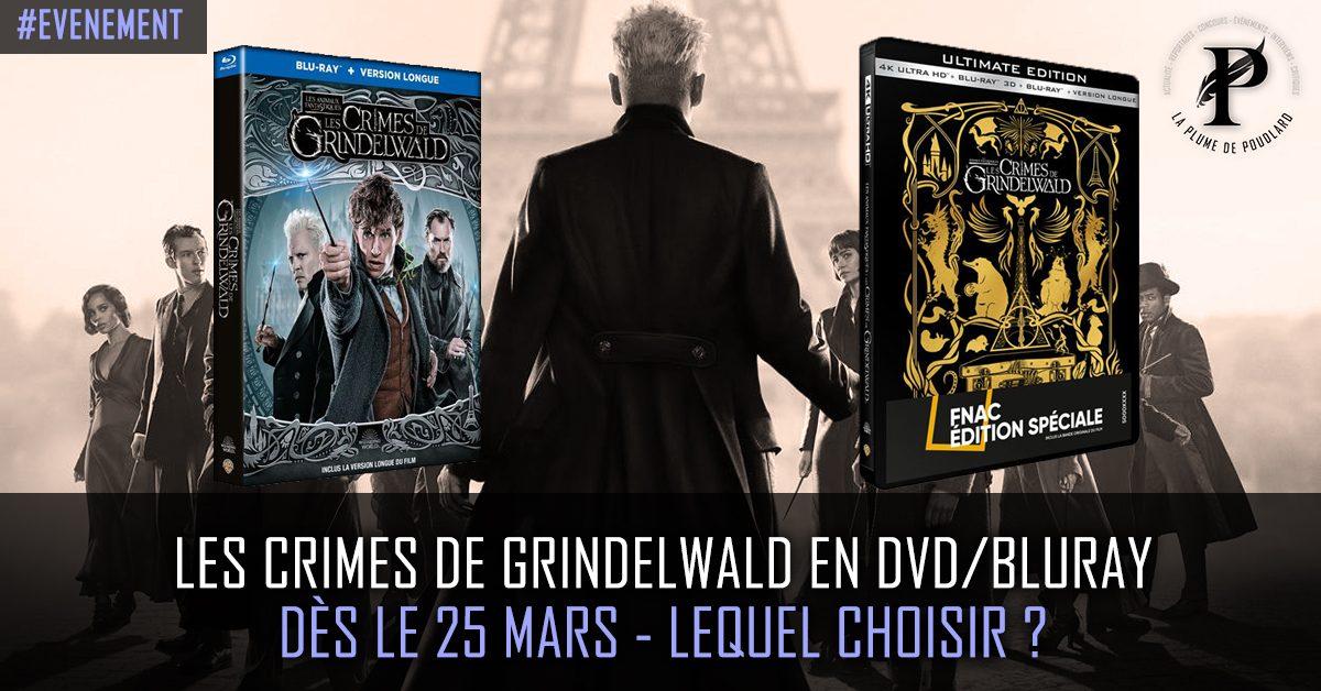Les crimes de Grindelwald en DVD/BLURAY dès le 25 mars - Lequel choisir ?