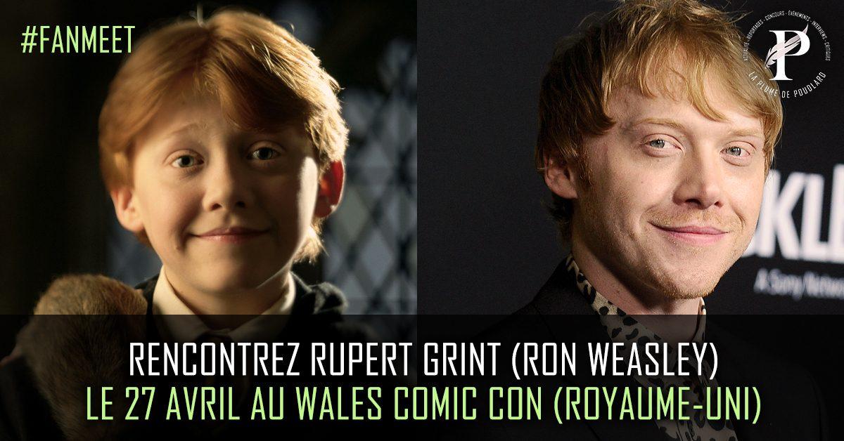 Rencontrez Rupert Grint au Wales Comic Con le 27 avril