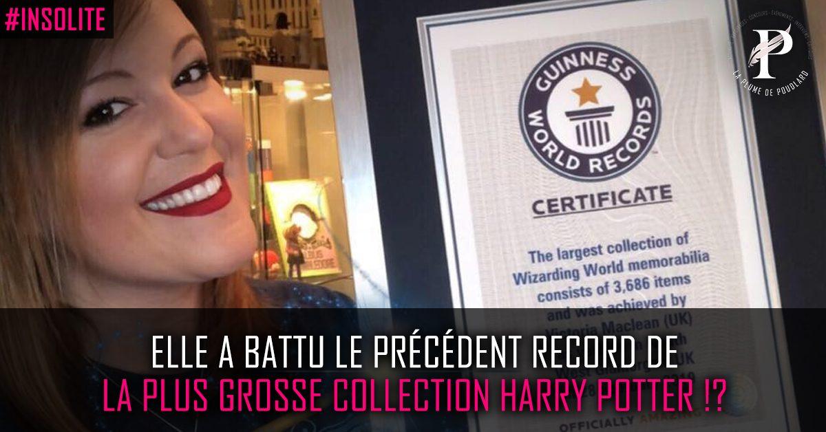 Elle a battu le précédent record de la plus grosse collection Harry Potter !?
