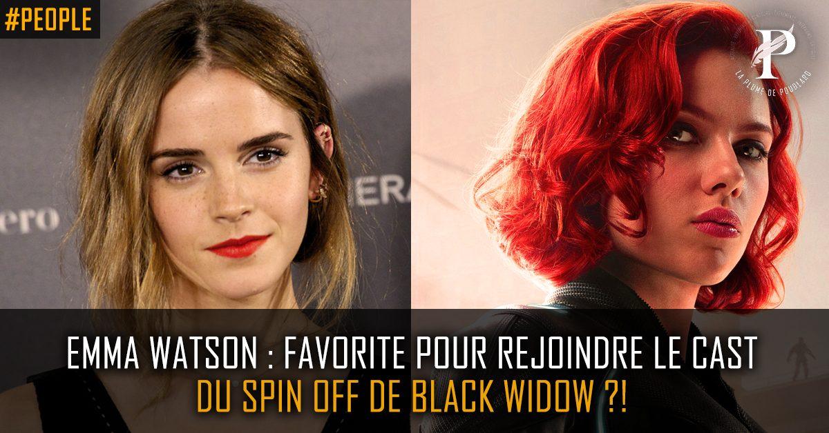 Emma Watson (aka Hermione Granger dans Harry Potter) serait favorite pour rejoindre le cast de Black Widow !?