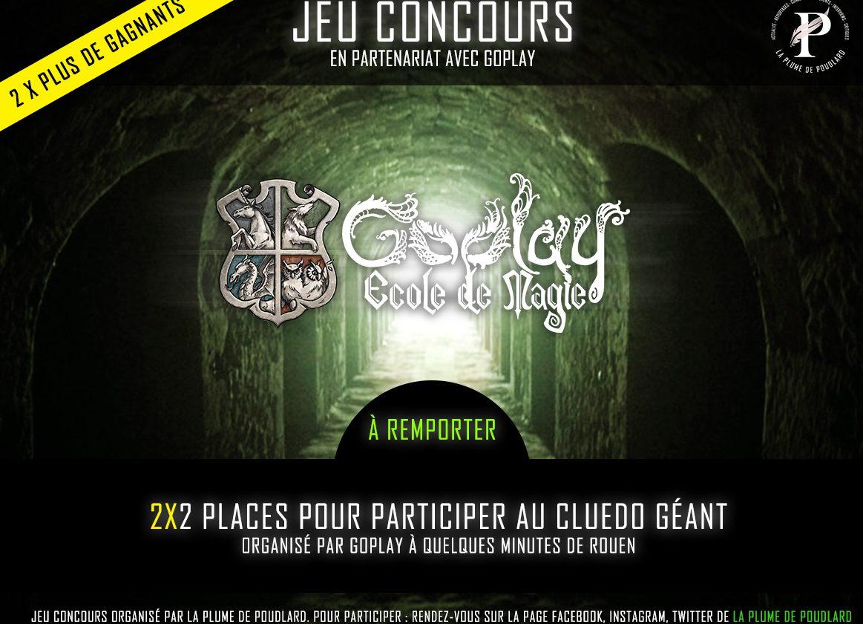 Remportez 2x2 places pour participer au Cluedo Géant