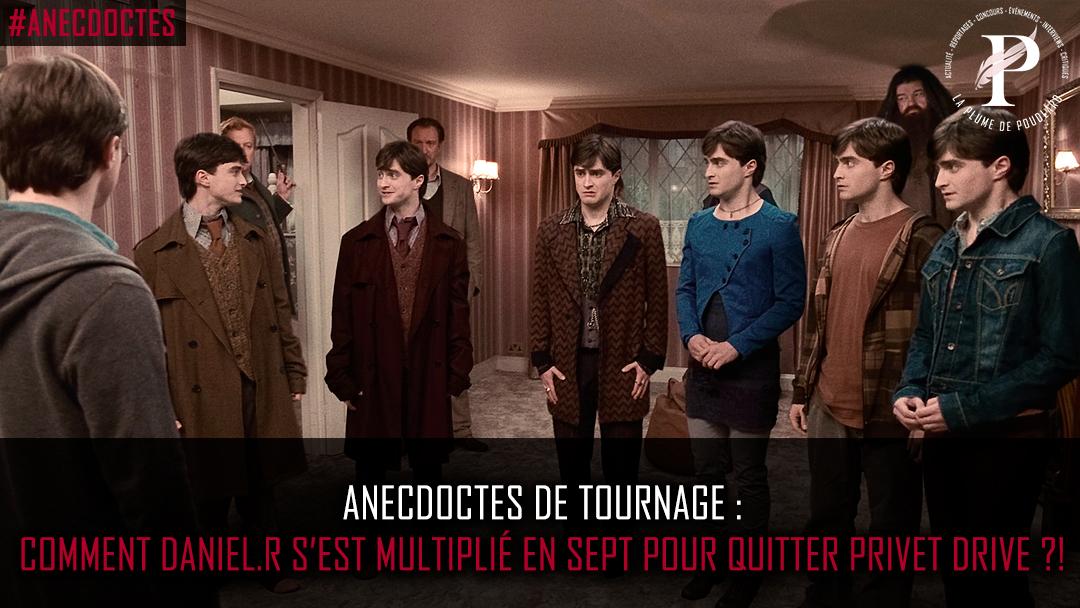 Comment Daniel Radcliffe s'est multiplié en 7 Harry pour quitter Privet Drive ?!
