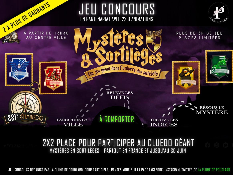 Jusqu Au 29 Mai 2019 Jeu Concours Remportez 2 X 2 Places Pour Participer Au Jeu Geant Mystere Sortileges La Plume De Poudlard Le Media 100 Harry Potter