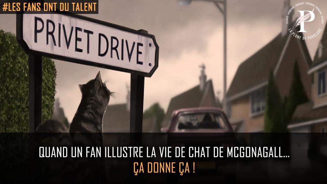 Quand un fan illustre la vie de chat de McGonagall… ça donne ça !