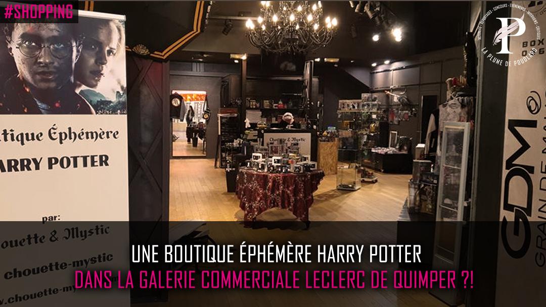 Une boutique éphémère Harry Potter à Quimper ?!