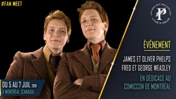 James et Oliver Phelps fred et George Weasley