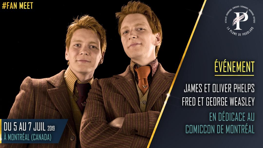 James et Oliver Phelps fred et George Weasley