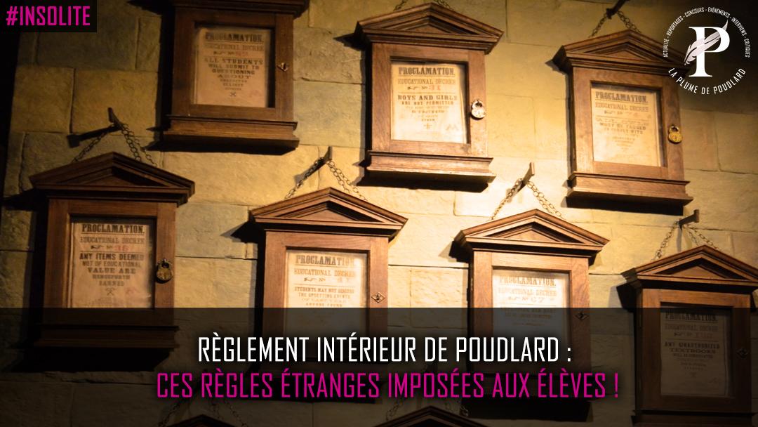 Règlement intérieur de Poudlard : Ces règles étranges imposées aux élèves !