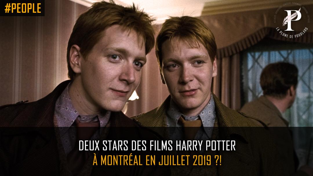 Deux stars des films Harry Potter à Montréal en juillet 2019!