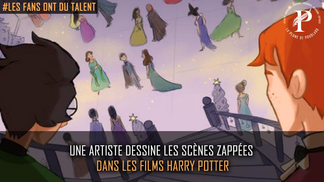 Une artiste, dessine les scènes zappées dans les films Harry Potter.