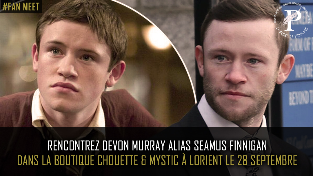 Rencontre avec Devon Murray le 28 septembre à Lorient !