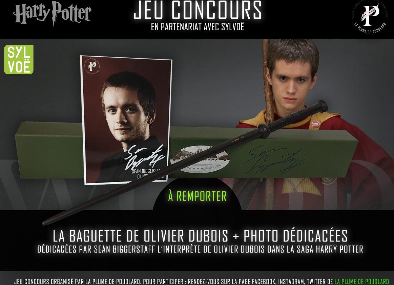 Jeu concours : Remportez la baguette et une photo dédicacées par Sean Biggerstaff alias Olivier Dubois