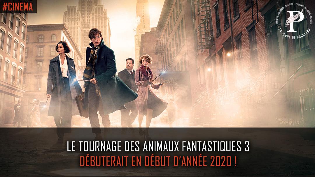 Le tournage des animaux fantastiques 3 débuterait en début d'année 2020