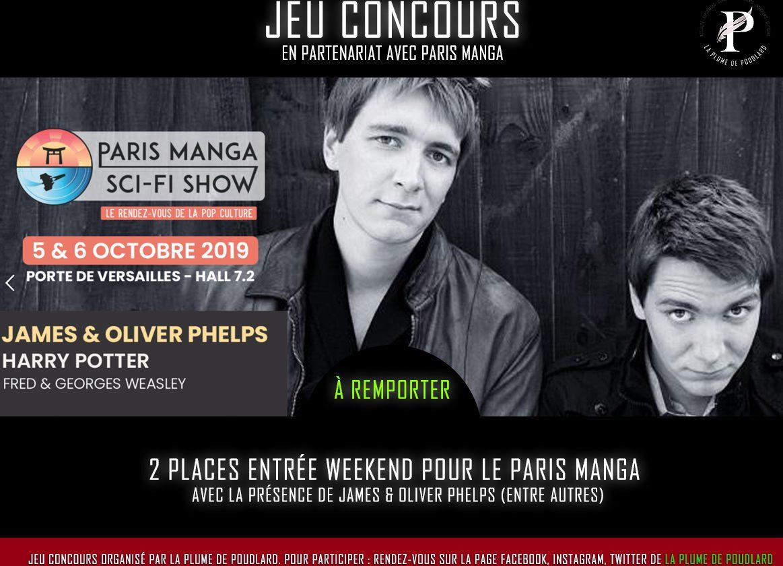 Remportez 2 PASS weekend pour le Paris Manga avec les frères jumeaux Weasley !