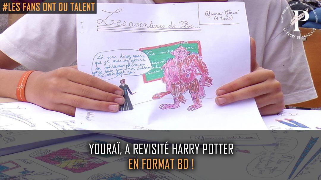Youraï, 11 ans, a revisité Harry Potter en format BD !