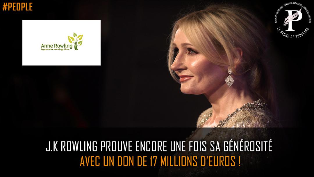 J.K Rowling prouve encore une fois sa générosité avec un don de 17 millions d'euros !