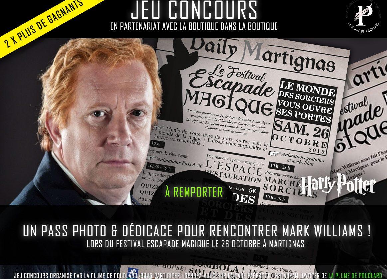 Jeu concours : Rempotez 2 x un pass photo & dédicace pour rencontrer Mark williams !
