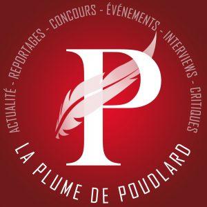 La Plume de Poudlard Logo blanc sur fond rouge