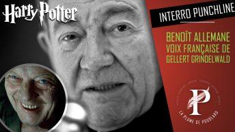 Benoît Allemane voix française de Gellert Grindelwald et Morgan Freeman