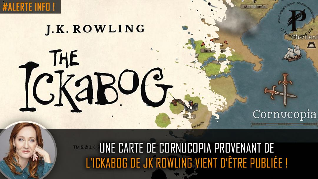 une carte de Cornucopia provenant de L'ickabog de JK Rowling vient d'être publiée !
